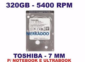 Hd Slim Notebook Toshiba 320gb Sata 3 Funcionando