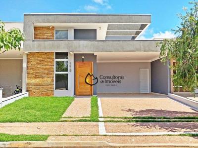 Casa Com 3 Dormitórios À Venda, 172 M² Por R$ 930.000 - Condomínio Reserva Real - Paulínia/sp - Ca0934