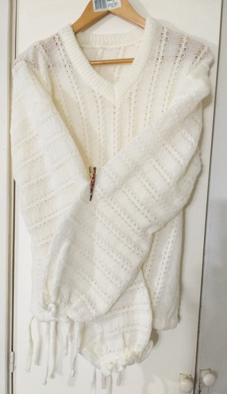 Sweater Lana Mujer Bolados Lage Impecable