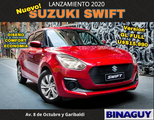 Suzuki Swift 1.2 Gl 5p / Reserve Hoy / Permuto Financio 100%
