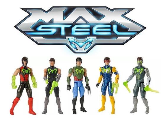 Bonecos 5 Max Steel Força Turbo