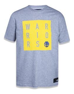 Camiseta New Era Golden State Warriors Cinza Nba