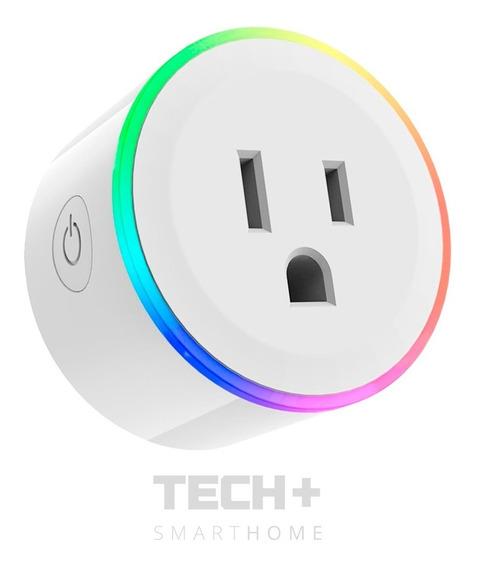 Mini Enchufe Inteligente Wifi Smarthome Con Led De Colores
