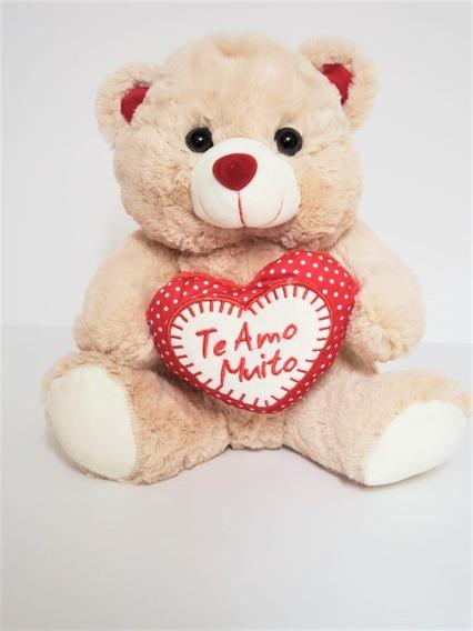 Urso De Pelúcia Com Coração Eu Te Amo - 26 Cm ( 3 Cores)