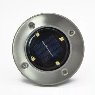Farol Estaca Enterrable Luz Led Panel Solar Pack X4 Recargab
