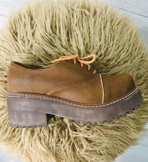 Calzado Zapato Dama Mujer Ultimo Talle 35 Eco Cuero Art 605