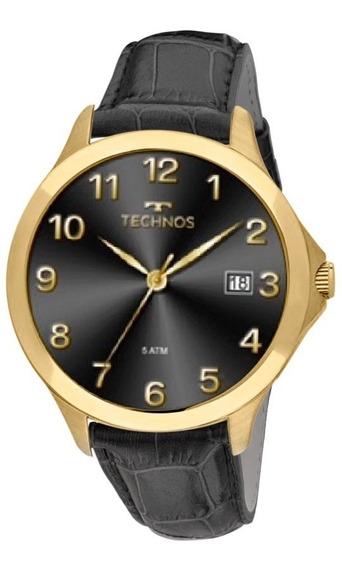 Relógio Technos Masculino Classic 1s13cl/2p Dourado Couro Of