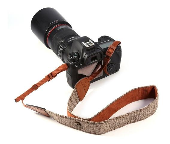 Alça Pescoço Coleção Inca Tweed Caramel P/ Canon Nikon Sony