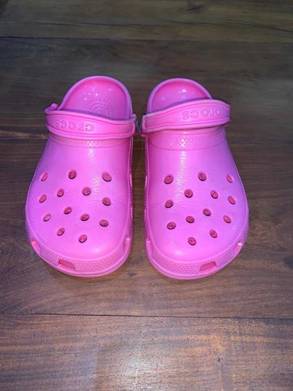 Crocs Fucsias De Mujer N37 Usadas