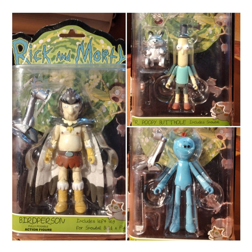 Rick Y Morty Lote Meeseeks Poopy Butthole Bird Person Funko