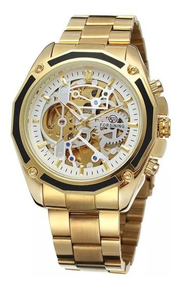 Relógio Masculino Mecânico Automático Luxo 100% Funcional