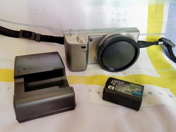 Câmera Sony Nex 5 Só Corpo, Bateria E Carregador 3400 Clicks
