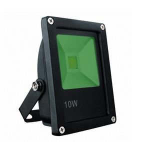 Refletor Holofote Led Verde 10w Bivolt Prova Dgua Jardim
