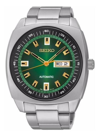Relógio Seiko Masculino Automático Snkm97 Verde Aço