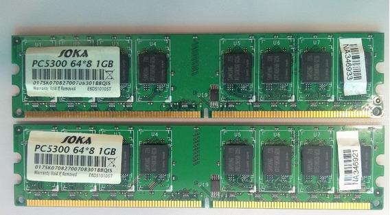 Memória Pc5300 64*8 1gb