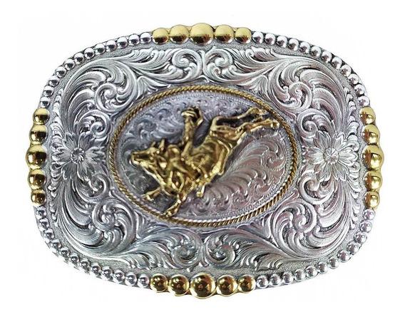 Fivela De Cowboy Importada Em Metal Com Peão Boiadeiro