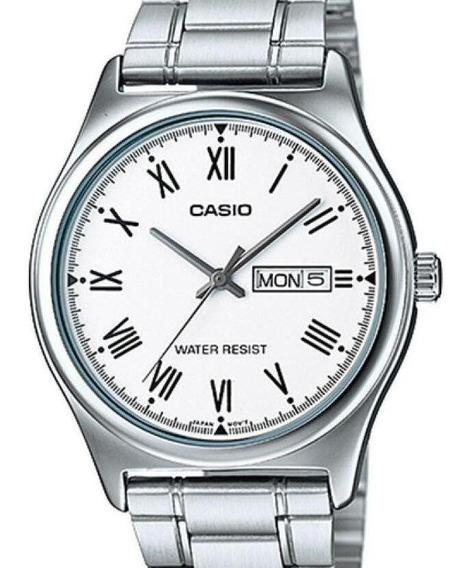 Relógio Casio Masculino Classico Prata - Numeros Romanos