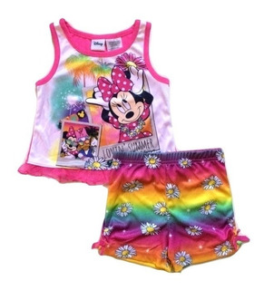 Pijama Blusa Shorts Disney Minnie Talla 2 Años
