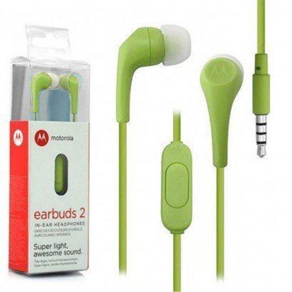 Fone De Ouvido Motorola Estereo Earbuds 2 In Ear - Verde