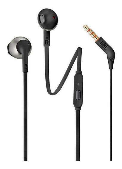 Fone De Ouvido In-ear Com Microfone Jbl Tune 205 Preto