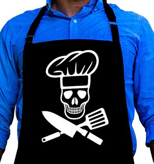 Bbq Grill Apron - Pirate Cook Skull Chef - Funny Apron For D
