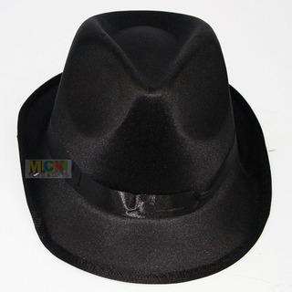 Sombrero Gangster Negro Halloween Fiesta Disfraces 4277-5