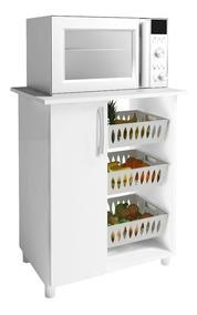 Balcão Genialflex 261 1 Porta Com Fruteira Branco