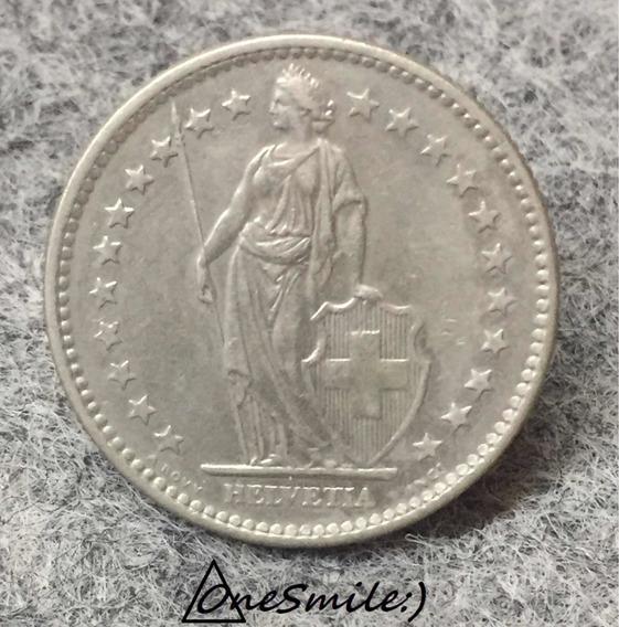 Onesmile:) Moneda De Suiza 2 Franco Año 1972 Helvetia