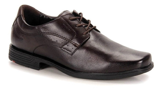 Zapato Hombre Talles Grandes Cuero Marron Pegada