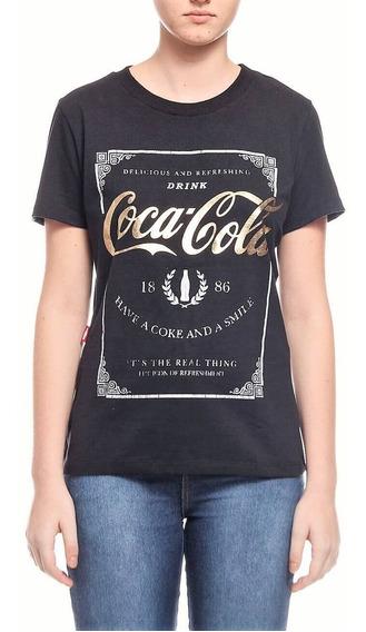 Camiseta Coca-cola Jeans Estampada Com Aroma Feminina 343202