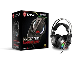 Msi Immerse Gh70 gaming Headset Con Virtual 7.1 surround Son