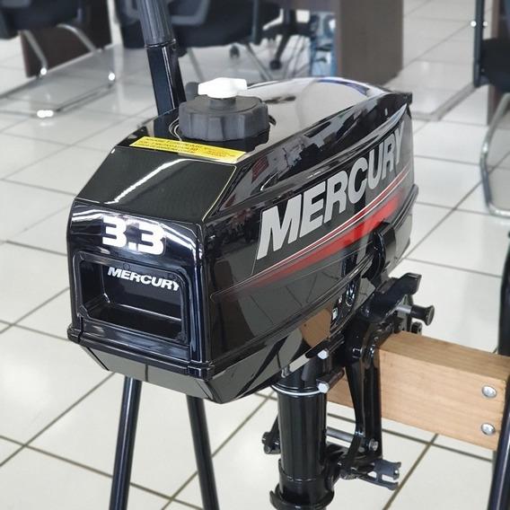 Motor Popa Mercury 3.3 Hp 2 Tempos Carburado 0km Na Caixa