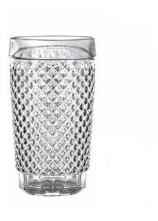 Set 12 Vasos Agua Multiuso Vidrio Labrado Barroco Wheaton Brasil 255ml