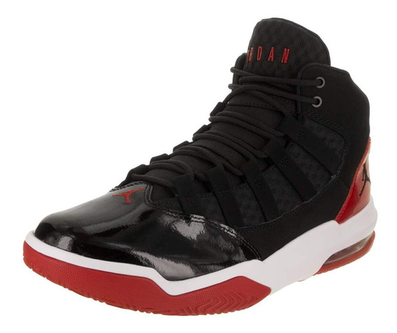 Jordan Max Aura Black/black Gym Red-white Aq9084 006