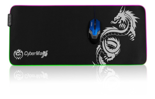 Imagen 1 de 8 de Mouse Pad Gamer Cybertel Mouse Pad Cbx Fx 108 Rgb 80x30cm