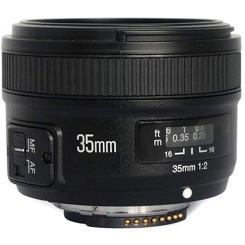 Imagem 1 de 5 de Lente Yongnuo Yn 35mm F/2g Para Nikon Auto Foco