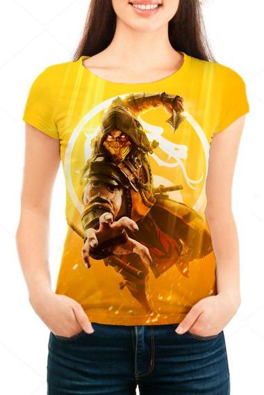 Camiseta Babylook Feminina Mortal Kombat 11 - Mn01