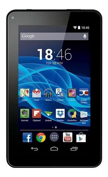 "Tablet Multilaser M7S 7"" 8GB preto com memória RAM 512MB"