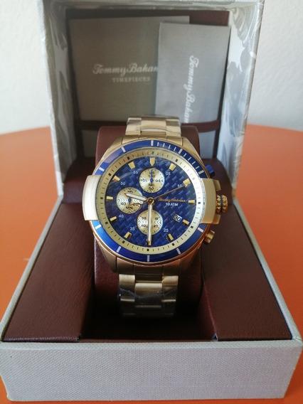 Reloj Tommy Bahamam Hombre Color Dorado Modelo: