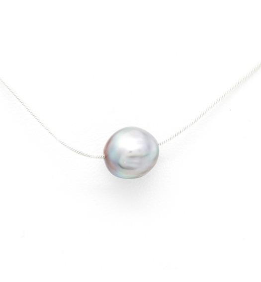 Cadena De Plata Perla Cultivada Perlas Del Mar De Cortez