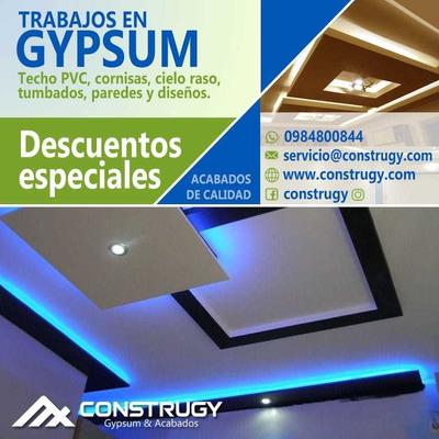 Gypsum - Cielo Rasos - Fibrocemento-0984800844 $12.50 Por M2