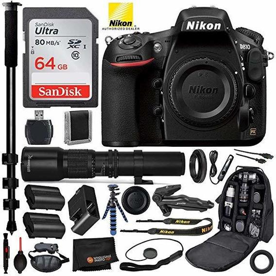 Camara Nikon D810 Dslr 1542 500mm Telephoto Lente Y T Moun ®
