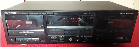 Tape Deck Kenwood Kx-w6050 - No Estado Para Peças Ou Reparo