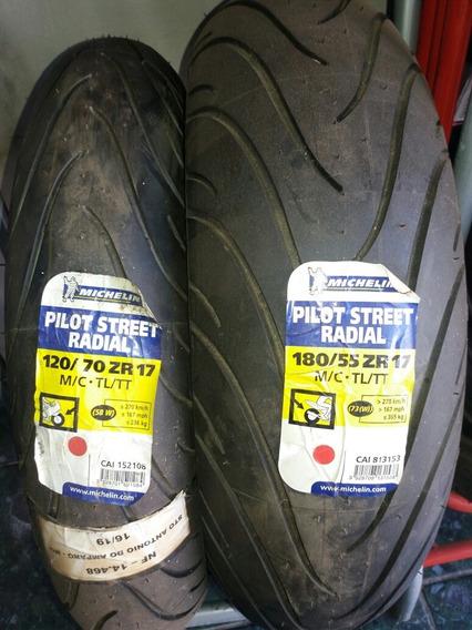 Par Pneu 120/70-17+180/55-17 Michelin Pilot Street Radial