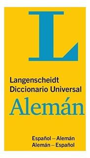 Libro : Langenscheidt Diccionario Universal Aleman : Espanol