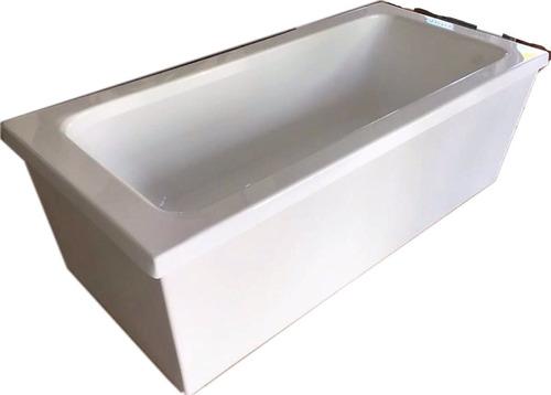 Bañera Max Isla 170x80x50 Con Deck Y Desague Acrílico Unica