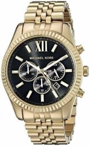 Relógio Michael Kors Mk8286 Lexington Dourado Original