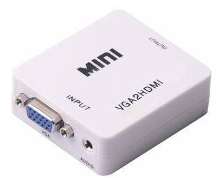 Conversor Vga A Hdmi C/ Audio Adaptador Activo - Factura A/b