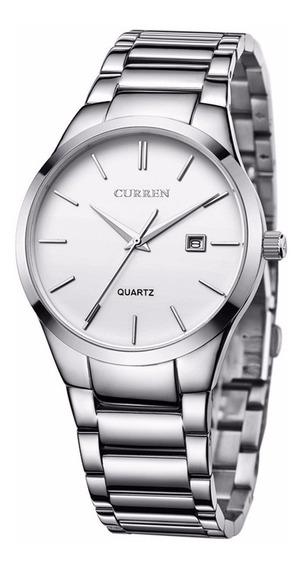 Curren 8106 Relógio De Relógio De Pulso Quartzo Calendário N
