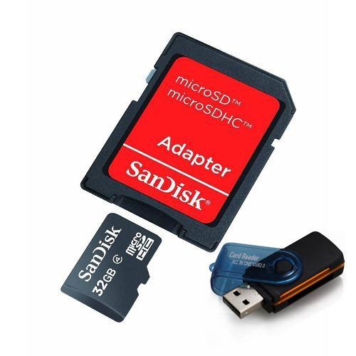 Cartão De Memória Micro Sd Sandisk 32gb + Leitor 15 Em 1